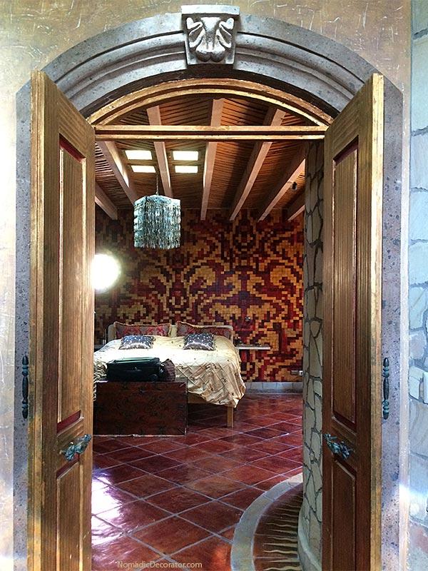 Bedroom View from Bathroom Mayan Airbnb San Miguel de Allende