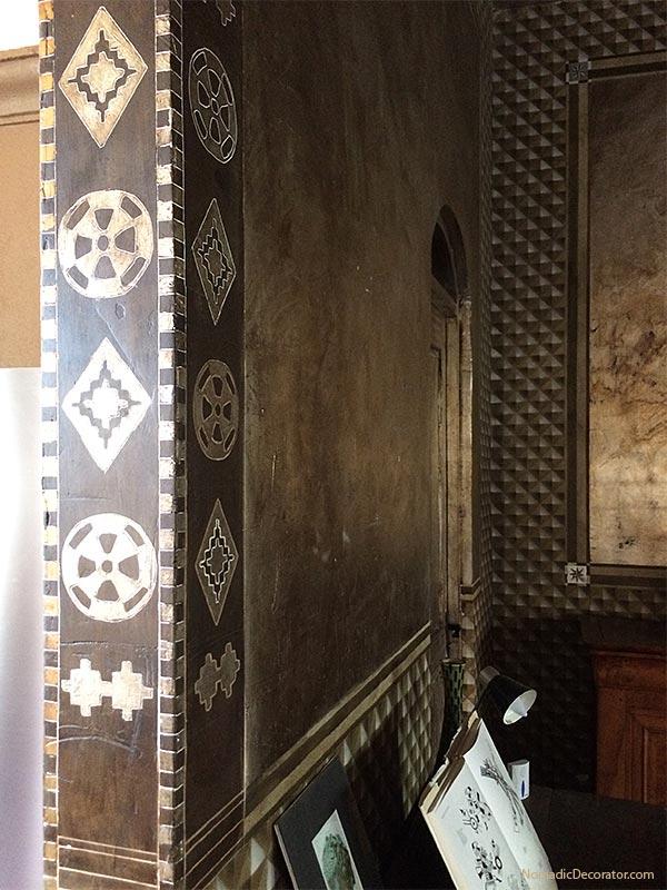 Metallic Painted Walls Mayan Airbnb San Miguel de Allende