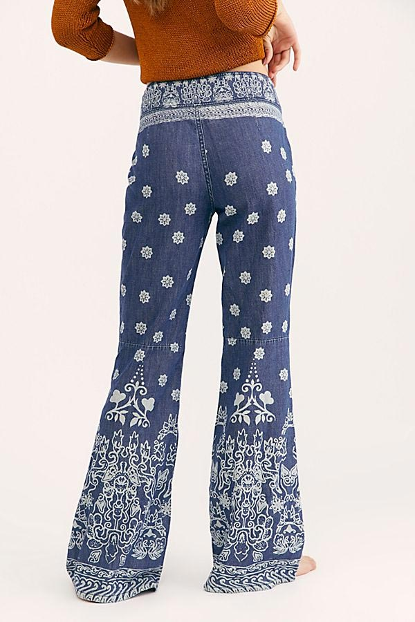 Free People Printed Jeans