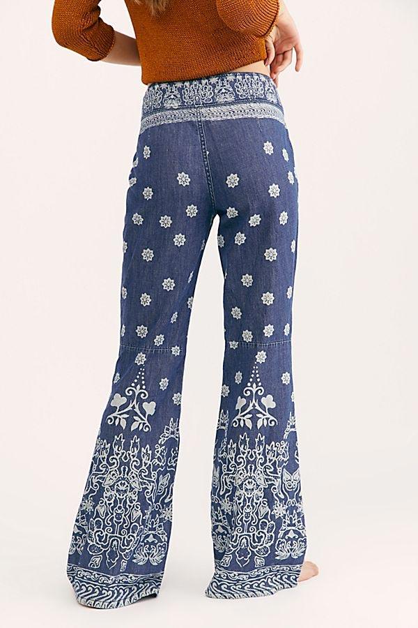 Free People Printed Jeans