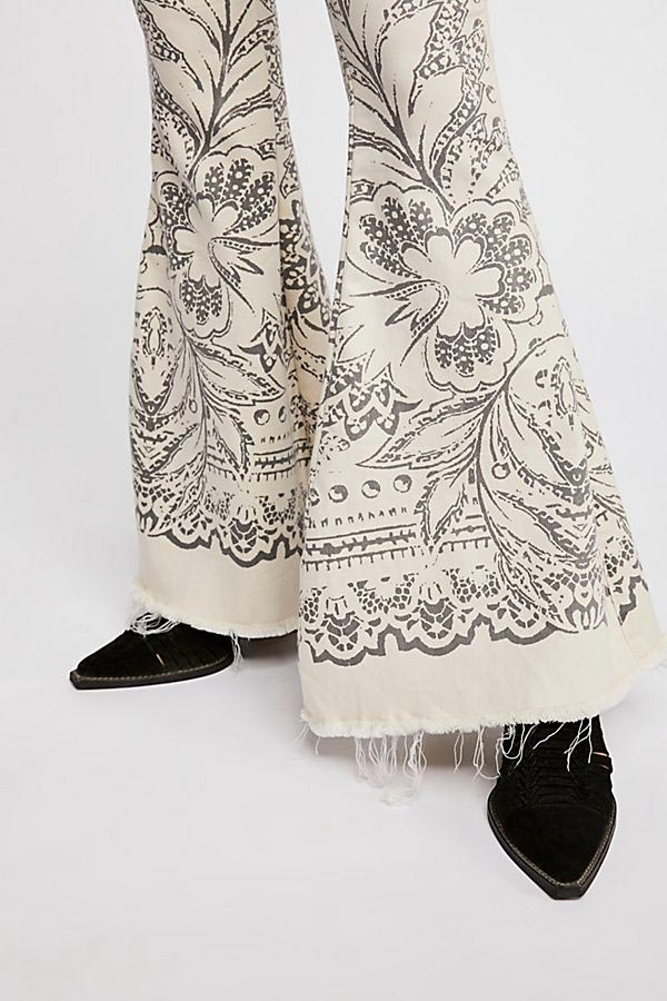 Free People Printed Jeans Close Up