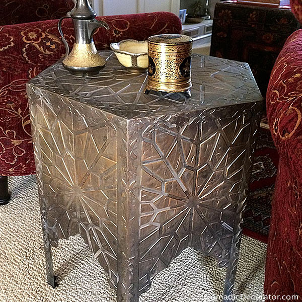 Moroccan Table with Raised Stencils